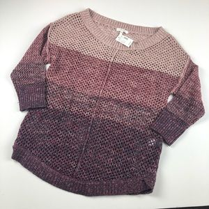 NWT Maurice stripe color block knit sweater S pink